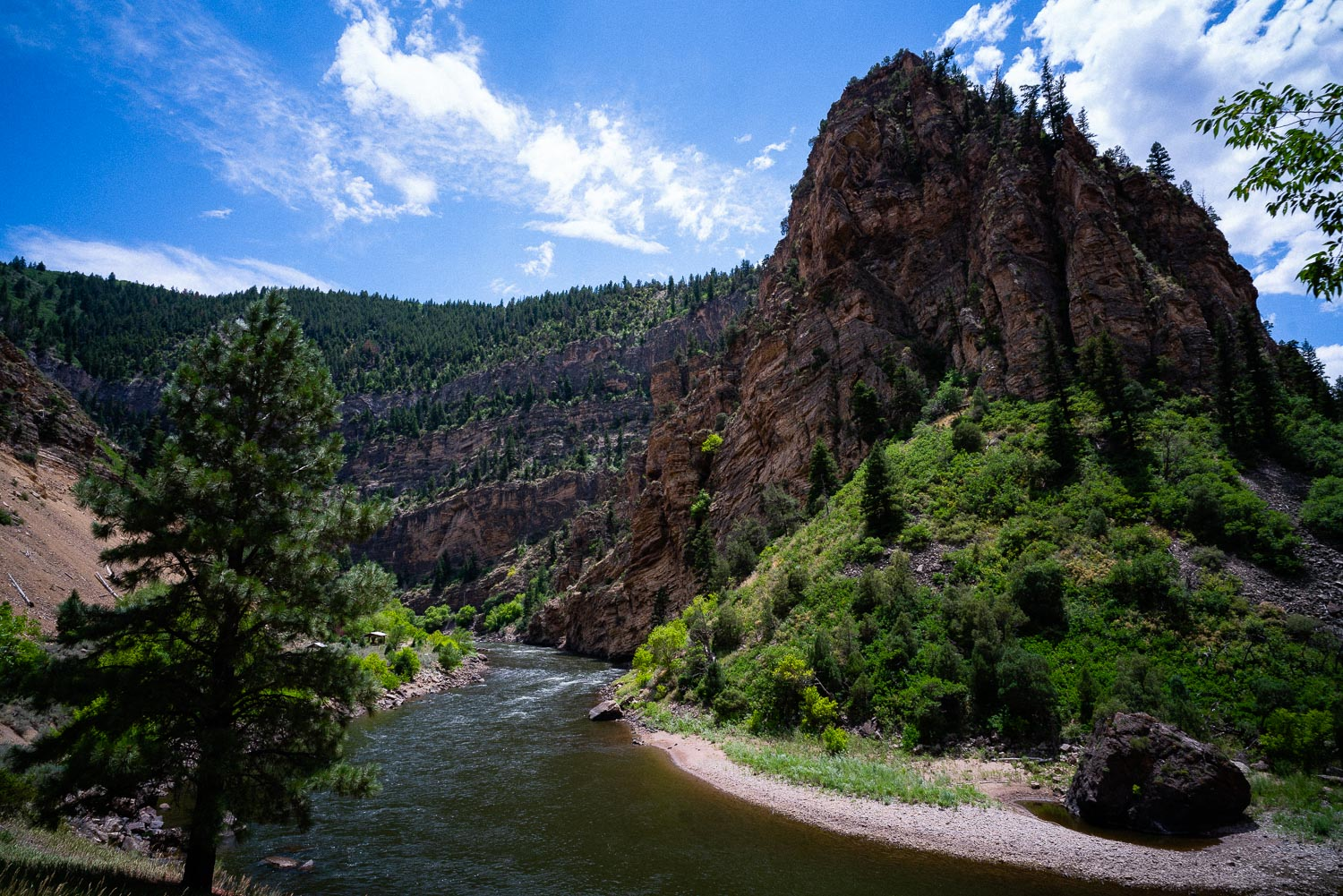 Glenwood Canyon. So many great hikes in here and an amazing bike trail along the Colorado River the whole length of the gorge.