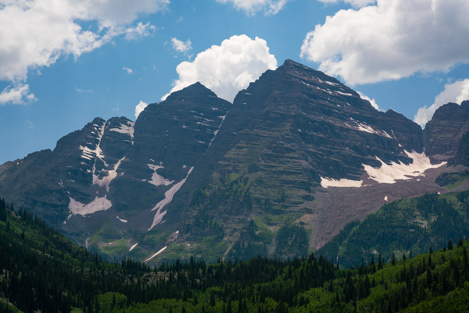 The Maroon Bells shot on my Leica 90mm Summarit.