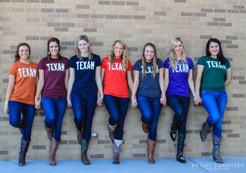 Texas Universities Tshirt Shoot