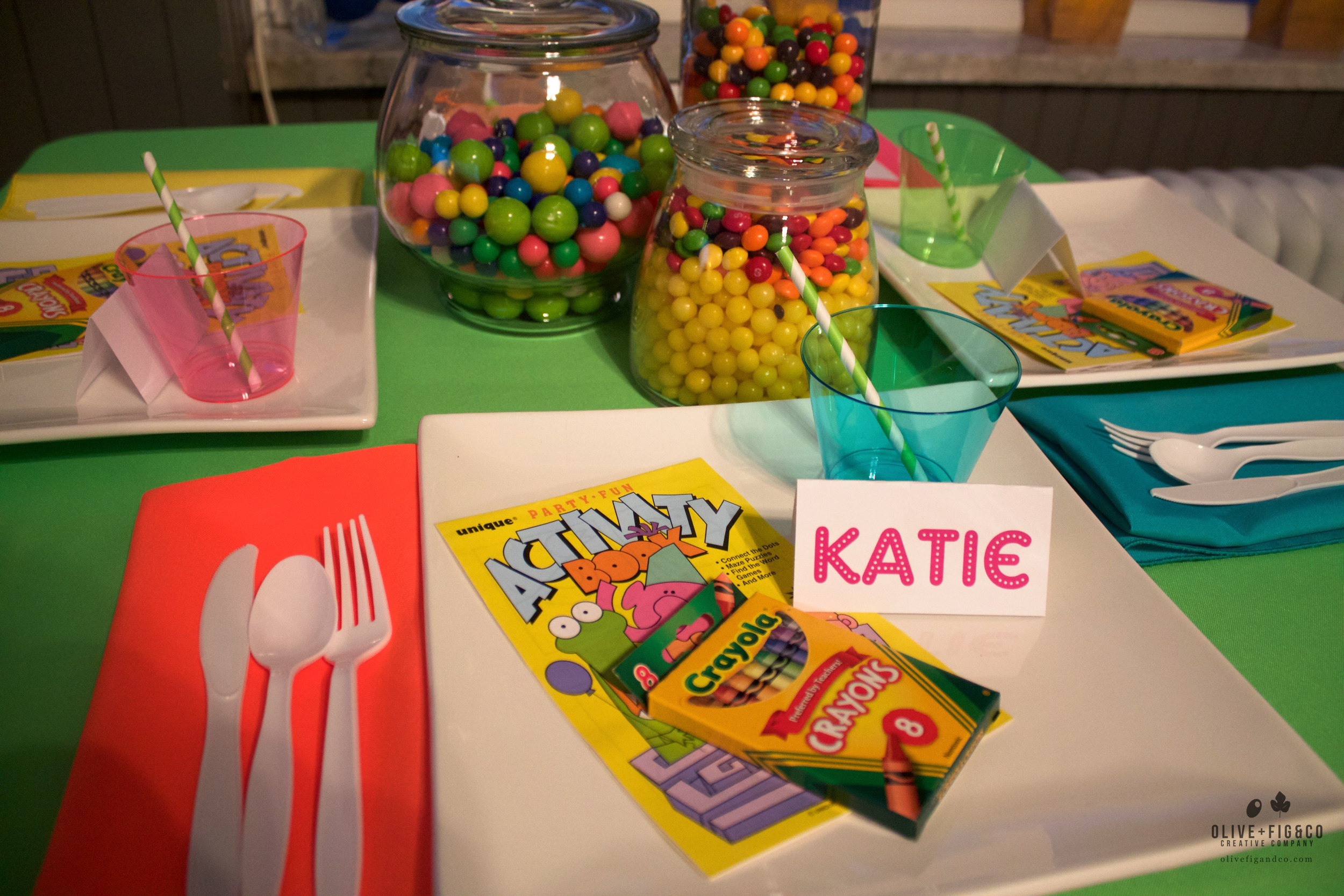 Kids birthday party! Name cards by O+F.