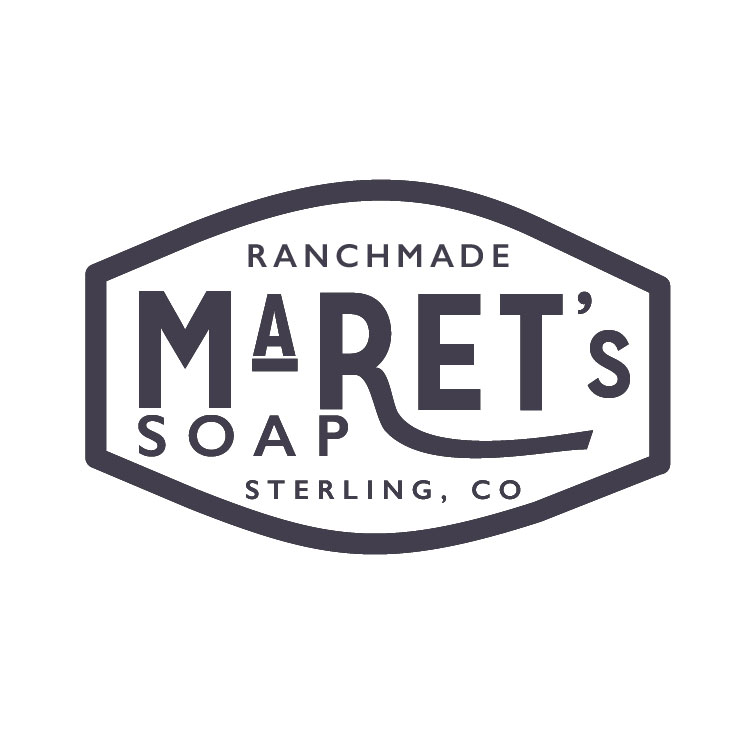 A complete rebrand for Maret's Soap turned a simple packaging label, into a design forward display of Maret's soap artistry. Inspired by the rustic tones and ranch equipment logos, this logo communicates the simplicity and ranchmade business that thrives on small community.