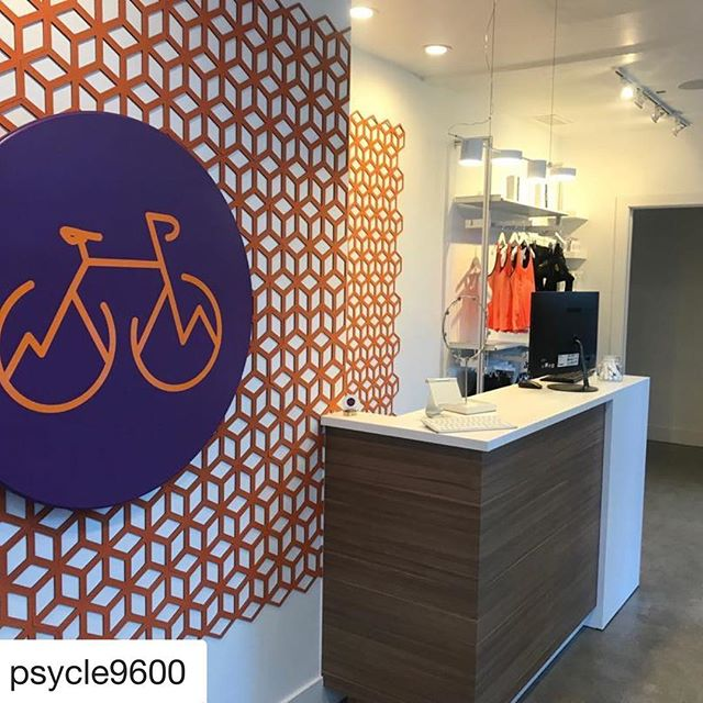 This space turned out AMAZING! Designing the branding for @psycle9600 was such a blast! Next time you're in Breck, you'll have to stop by for a sweat. 🚲 🏔 💦