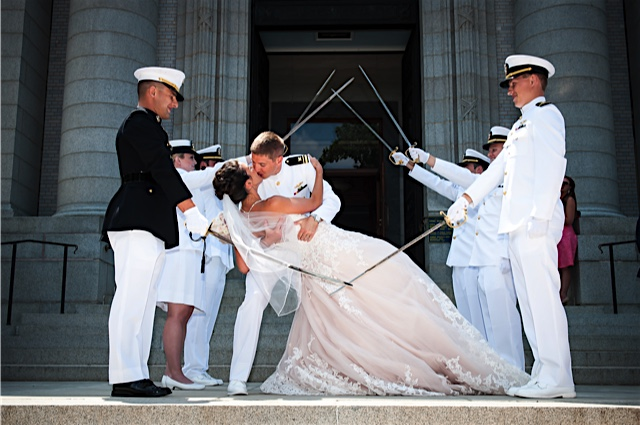 Sword Arch At Navy Wedding