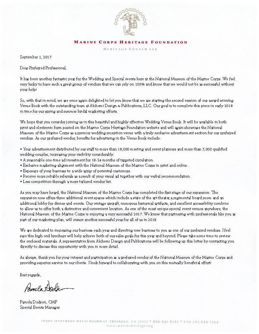 Letter from Pamela Dodson