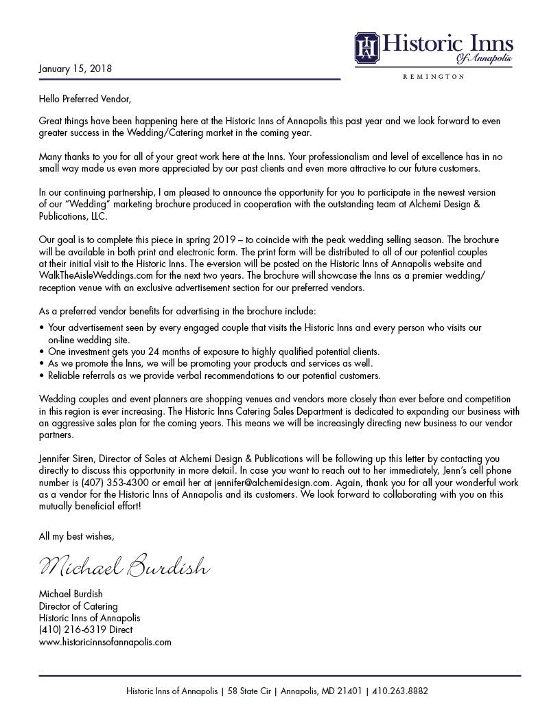 Letter from Michael Burdish