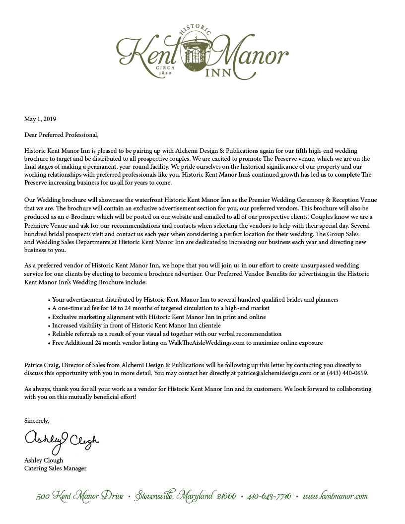 Letter from Ashley Clough