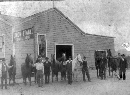 Union Livery Stable and Feed run by Granville Swift Harris