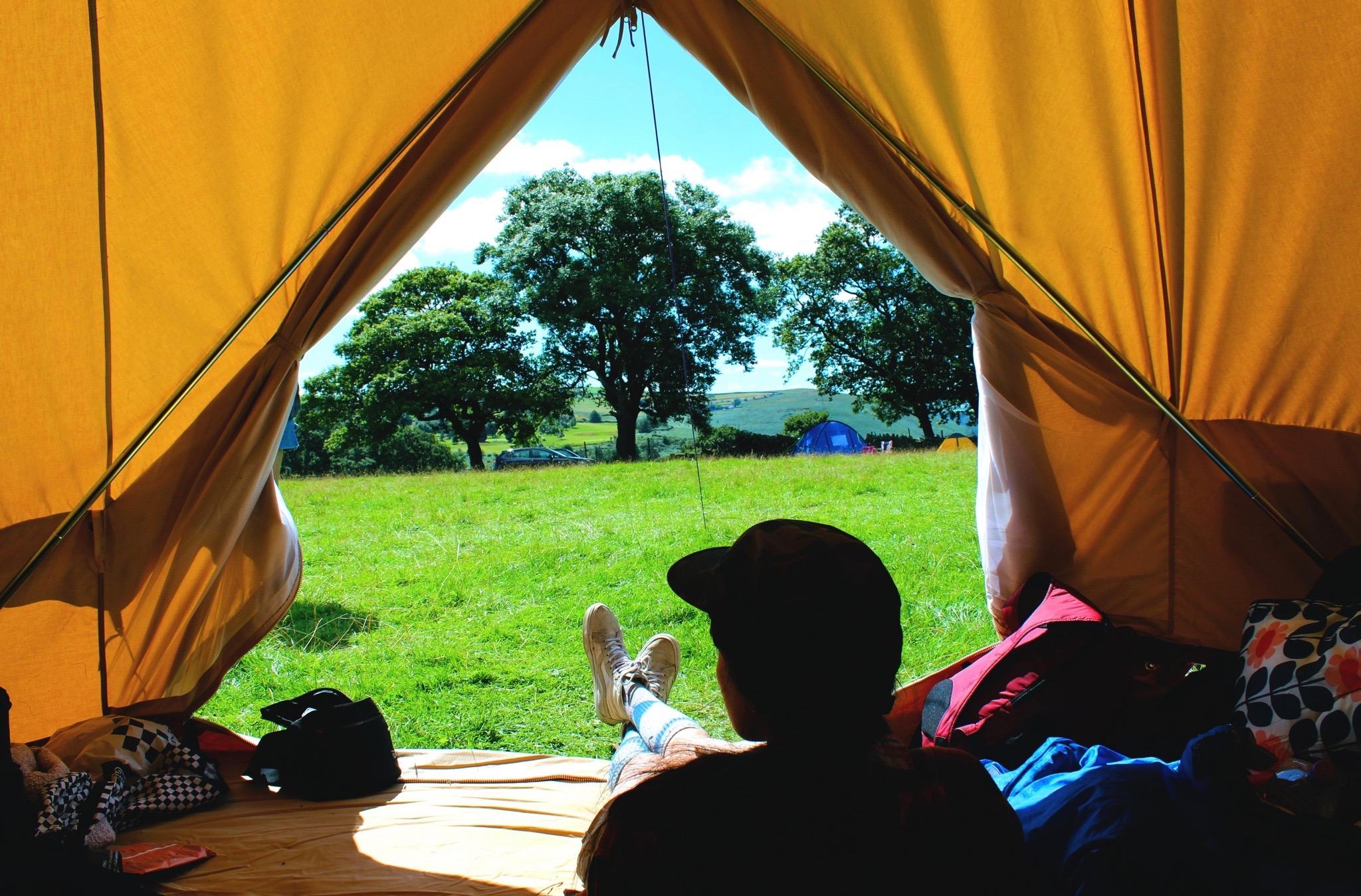 Camping on a 16th Century farm land - IMAGE: Vivianna Gomez Morales