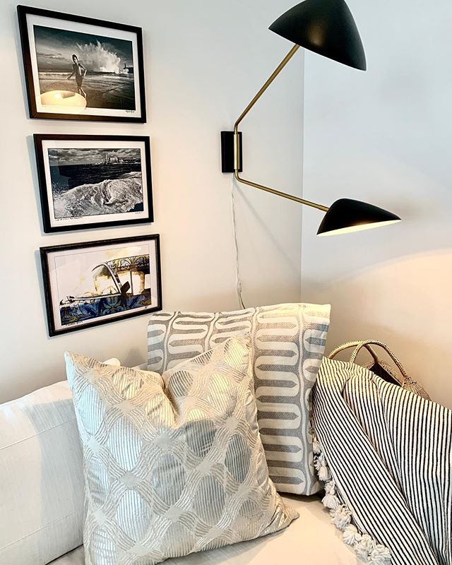 Black & Silver with Cuban photography ! Loving our install this weekend.....perfect for the beach!