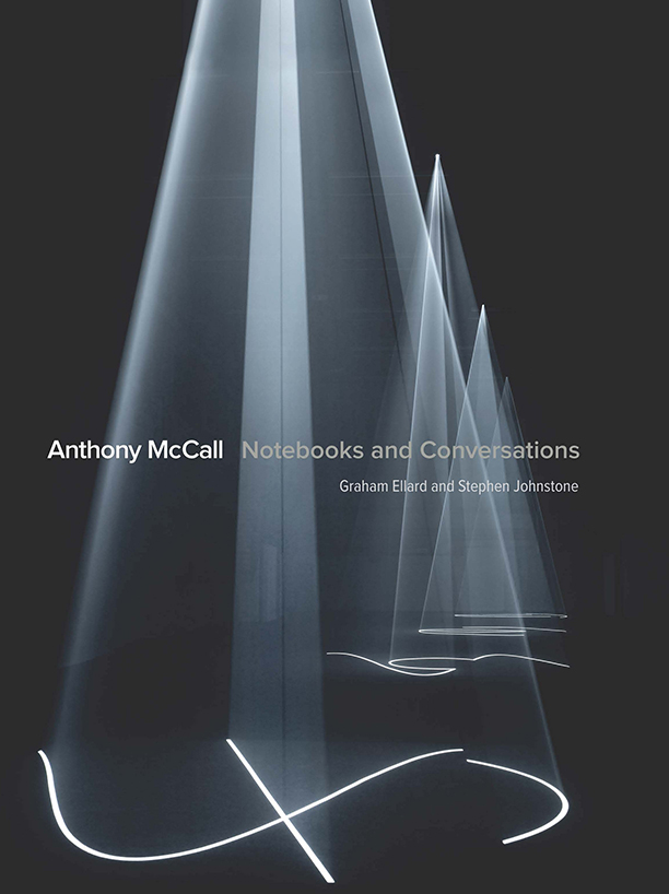 Notebooks and Conversations    Monograph.   By Graham Ellard, Stephen Johnstone, and Anthony McCall. Published by Lund Humphries in association with Kunstmuseum St Gallen. 192pp. 2015.  to buy:  https://www.amazon.com/Anthony-McCall-Conversations-Graham-Ellard