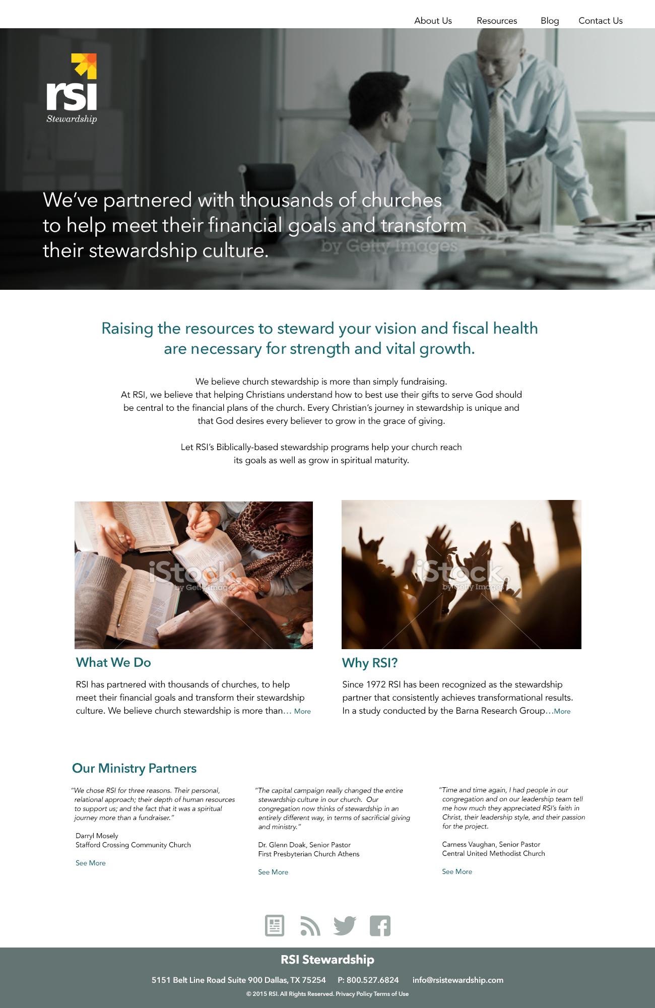 RSI Stewardship Website Re-brand Concept