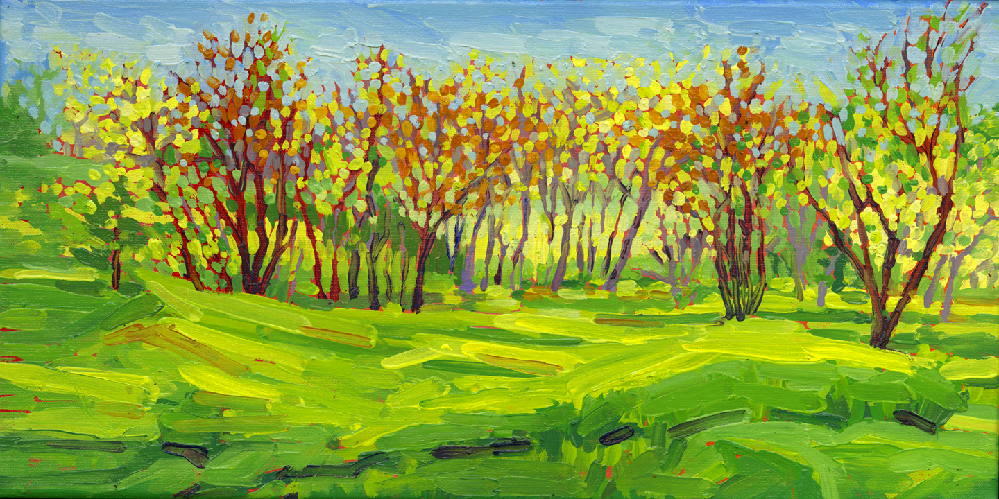 Greens of Spring (plein air)