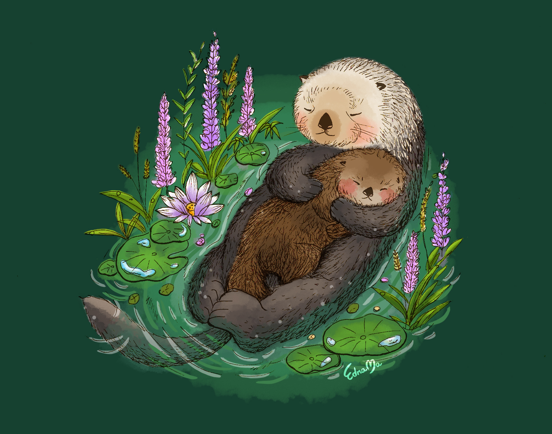 12Sea otter mother & baby.jpg