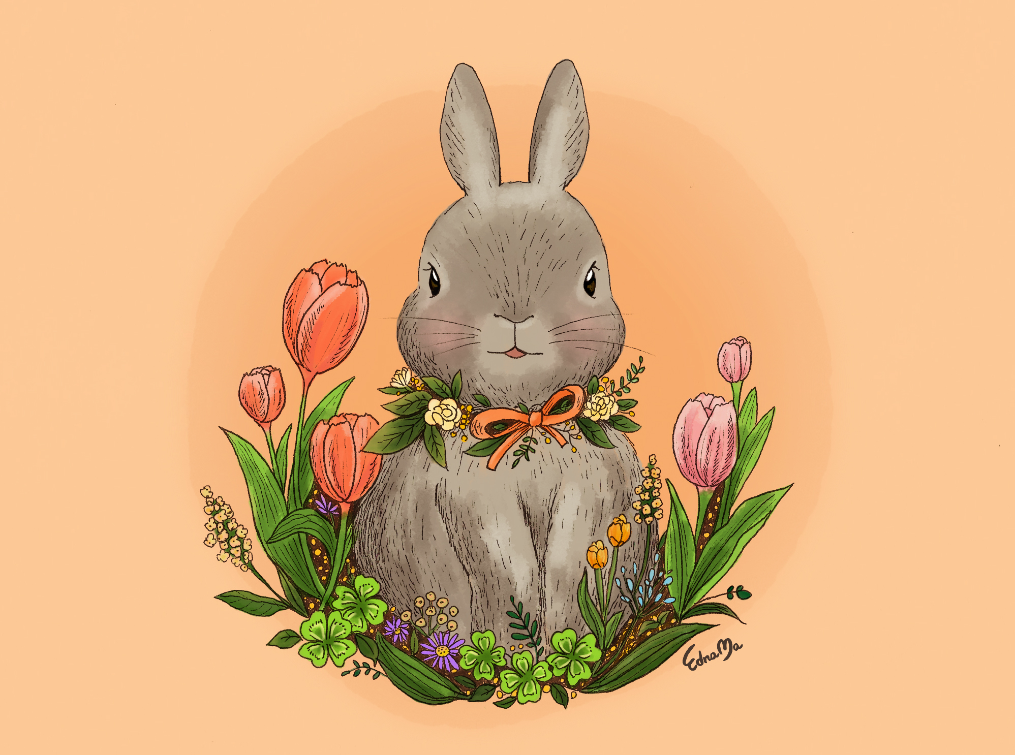 08Bunny with Tulip.jpg