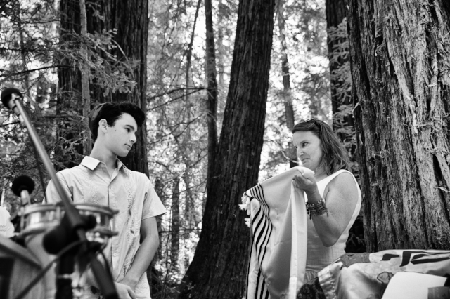 At Bar-Mitzvah in redwood grove, Berkley, CA
