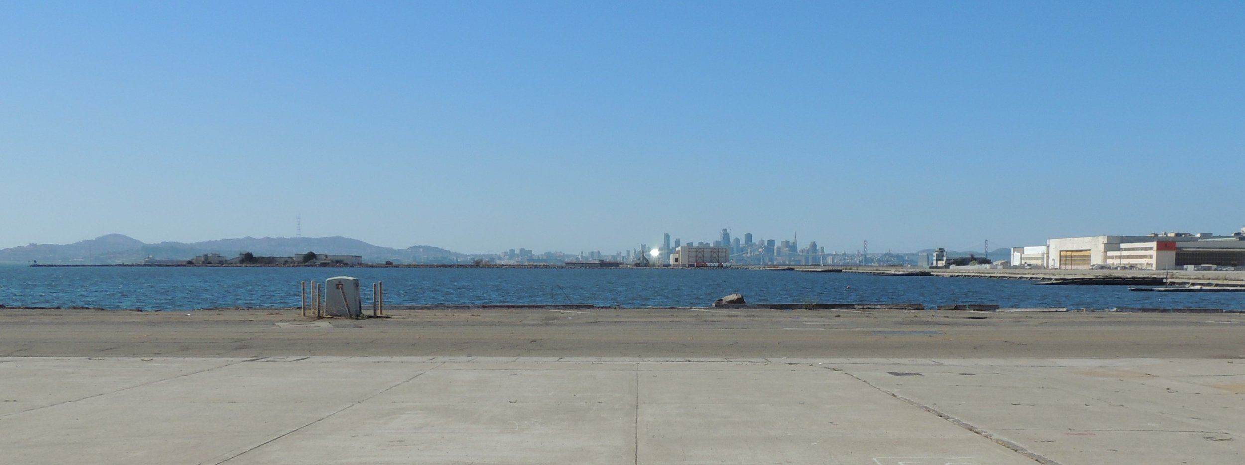 The view from Alameda Point Studios across to San Francisco
