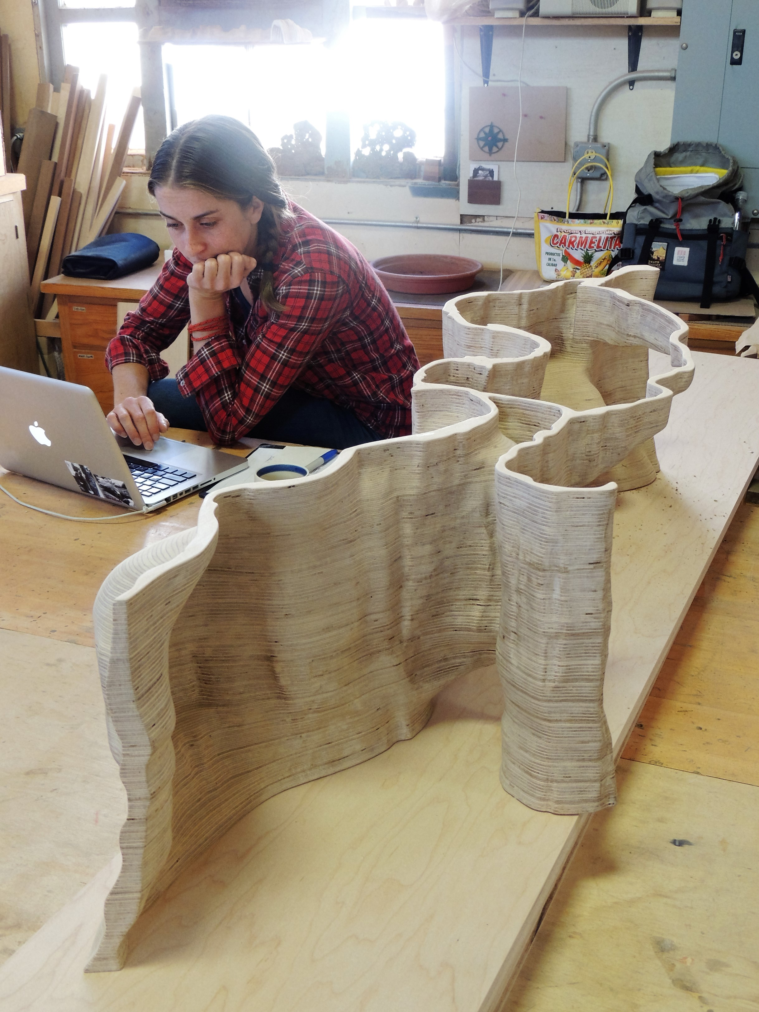 Adrien Segal, artist and teacher working on a new project
