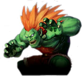 green video game characters - blanka