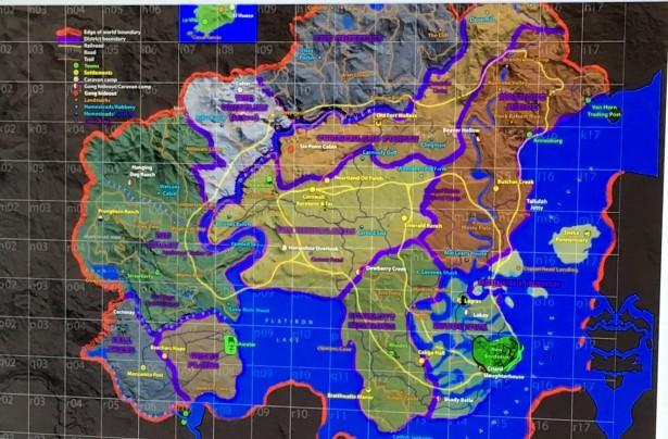 Leaked Red Dead Redemption 2 map
