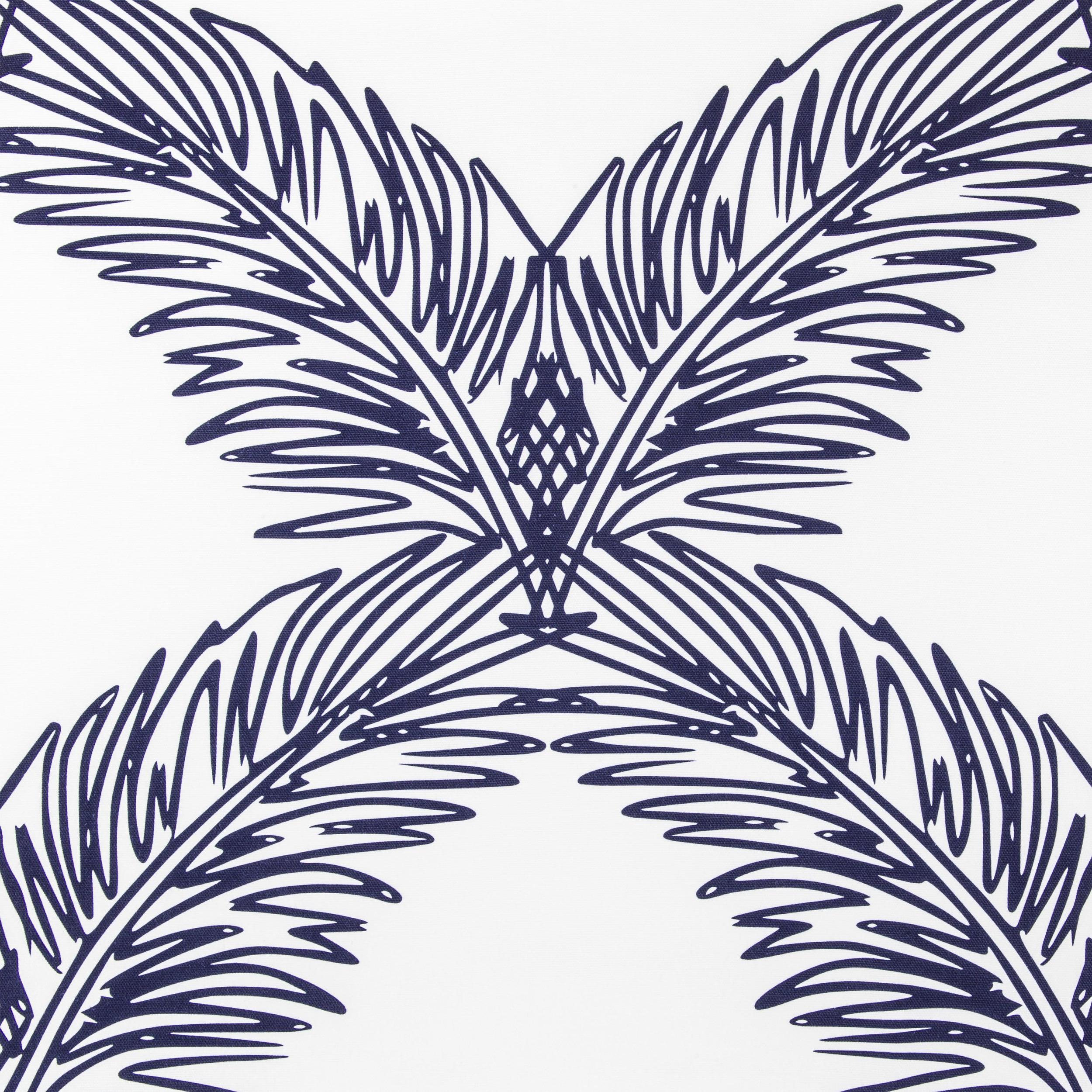 Palm Trellis/ navy