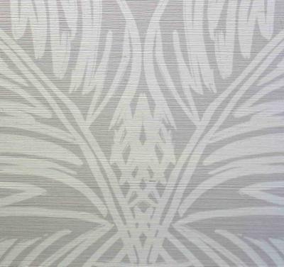 Printed Grasscloth Palm Trellis Driftwood Reverse