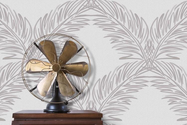 Palm Trellis Grasscloth / Driftwood