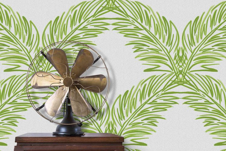 Palm Trellis / Green