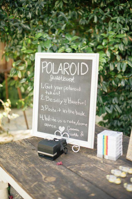 #1 - Polaroid Guest Book