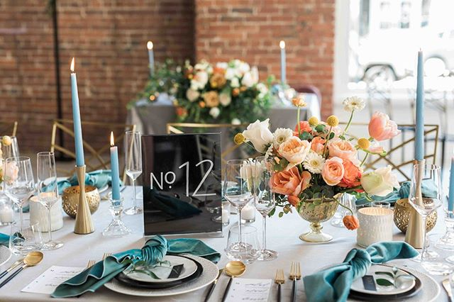 Wedding season is here! We are so excited for all that's ahead this season! Vibrant colors, unique couples, tasty desserts...be sure to follow along!⠀⠀⠀⠀⠀⠀⠀⠀⠀ . ⠀⠀⠀⠀⠀⠀⠀⠀⠀ Photo: @joannamongerphotography⠀⠀⠀⠀⠀⠀⠀⠀⠀ Design: @its_your_day_events⠀⠀⠀⠀⠀⠀⠀⠀⠀ Flowers: @lovebloomsweddings ⠀⠀⠀⠀⠀⠀⠀⠀⠀ Table no. & Menus: @pineappilyeverafter⠀⠀⠀⠀⠀⠀⠀⠀⠀ Rentals: @cortpartyrental⠀⠀⠀⠀⠀⠀⠀⠀⠀ .⠀⠀⠀⠀⠀⠀⠀⠀⠀ .⠀⠀⠀⠀⠀⠀⠀⠀⠀ .⠀⠀⠀⠀⠀⠀⠀⠀⠀ #seattleweddingplanner #seattlewedding #brunch4brides #seattleweddingphotographer #seattleweddingdesign #weddingdesign #livingcoral #bluewedding #velvetnapkins #modernwedding #goldwedding #acrylicsigns #brickwall #tablescape #weddingtablescape #flowers #weddingflowers