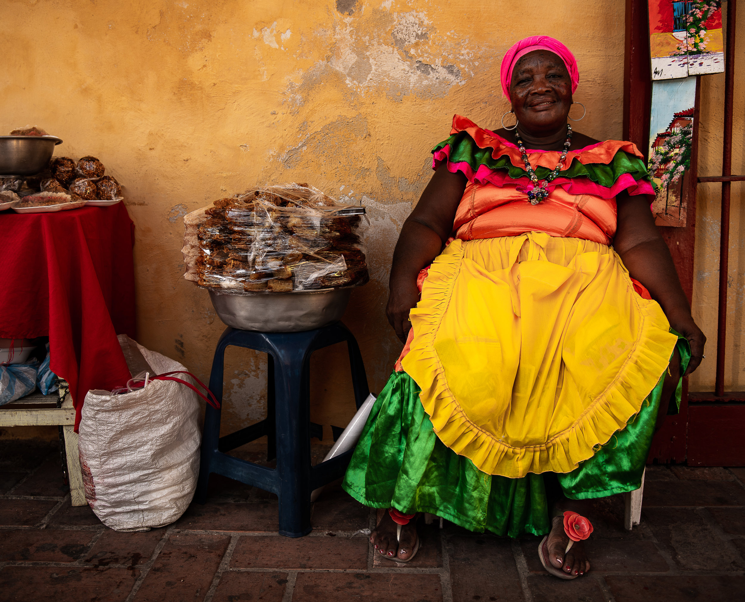 Woman selling arepas in Las Movedas.jpg