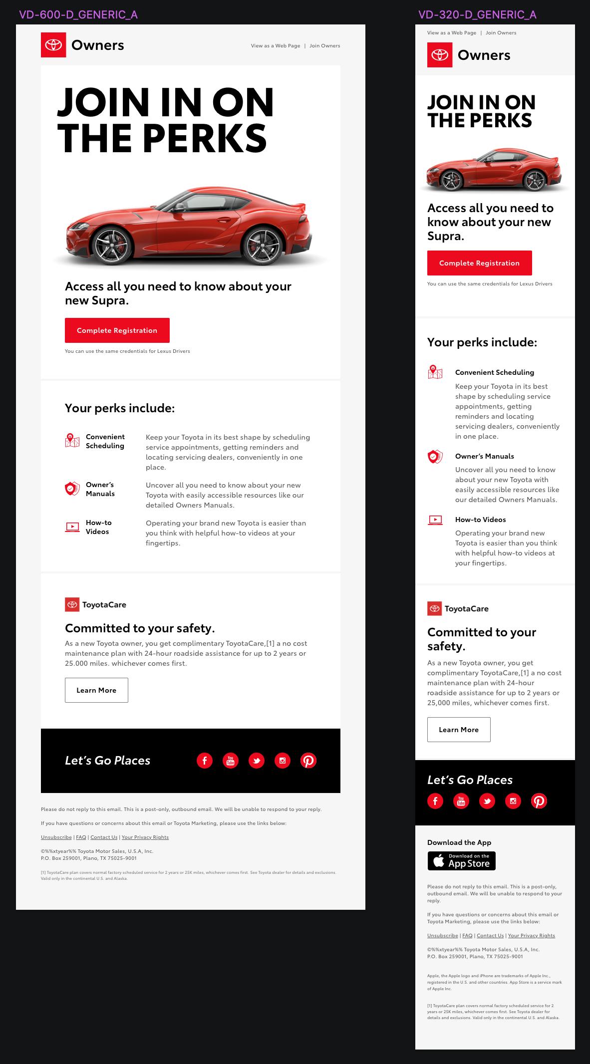 Toyotacare Roadside Assistance Number >> Toyota Mailer Design Parker Burchfield