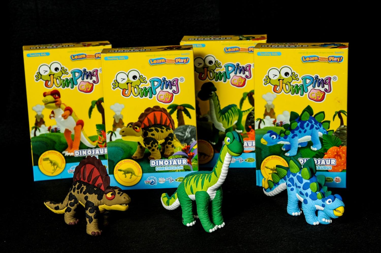 Jumping Clay Dinosaur
