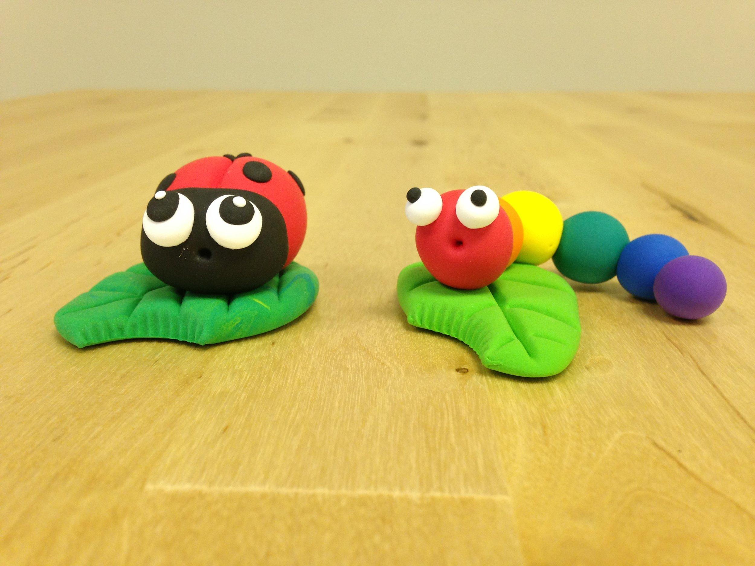 ladybug and caterpillar.JPG