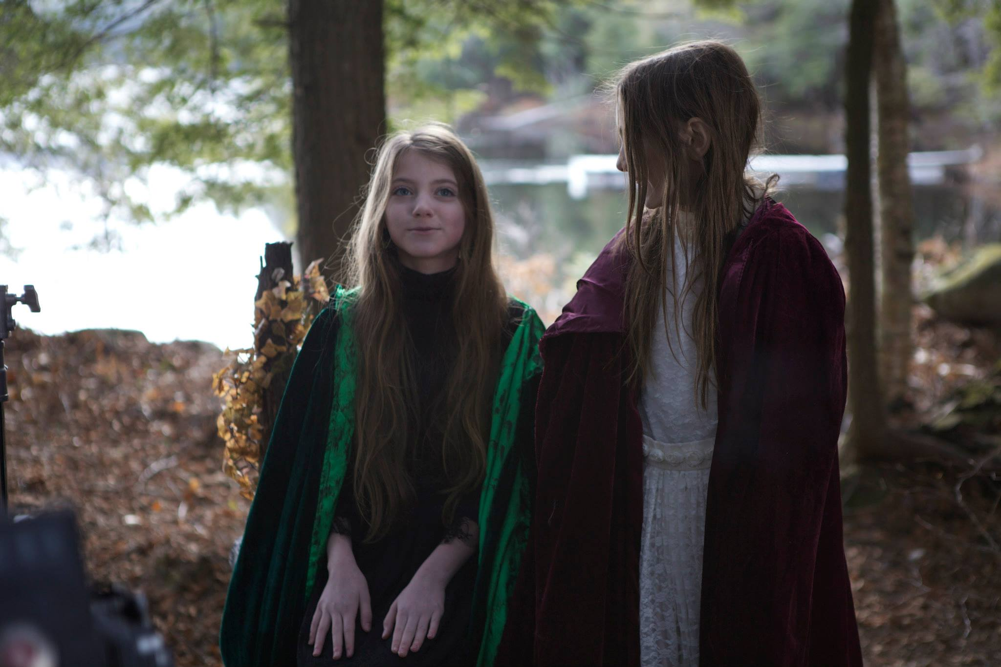 Lead actresses Ashley McDonald and Sophie Giroux