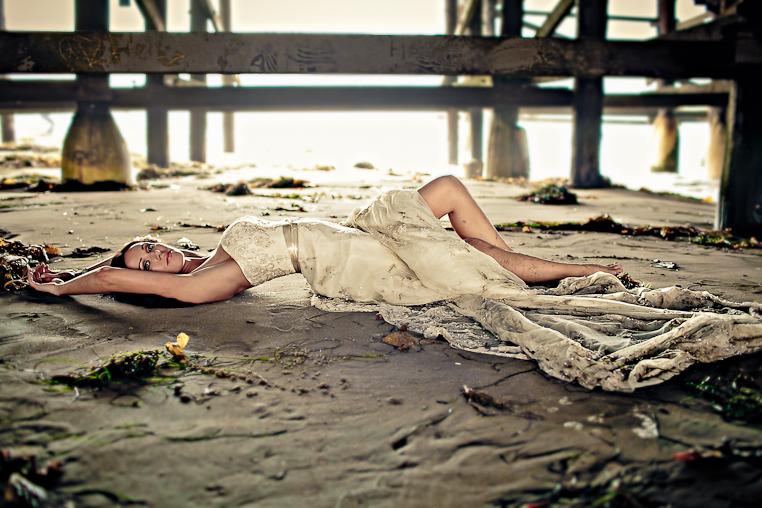 tiffany bikini shot for Ultimate MMA magazine