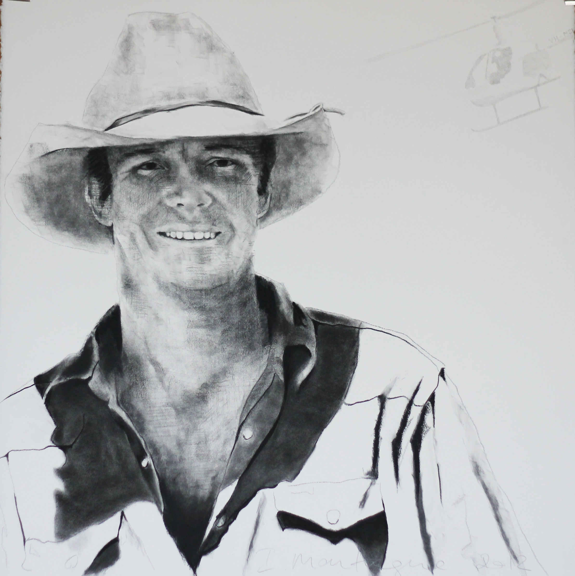 Morgan  . Charcoal on rag paper. 54 x 54cm  ©  2012 Ida Montague. Private Collection: Northern Territory  Commissioned Portrait