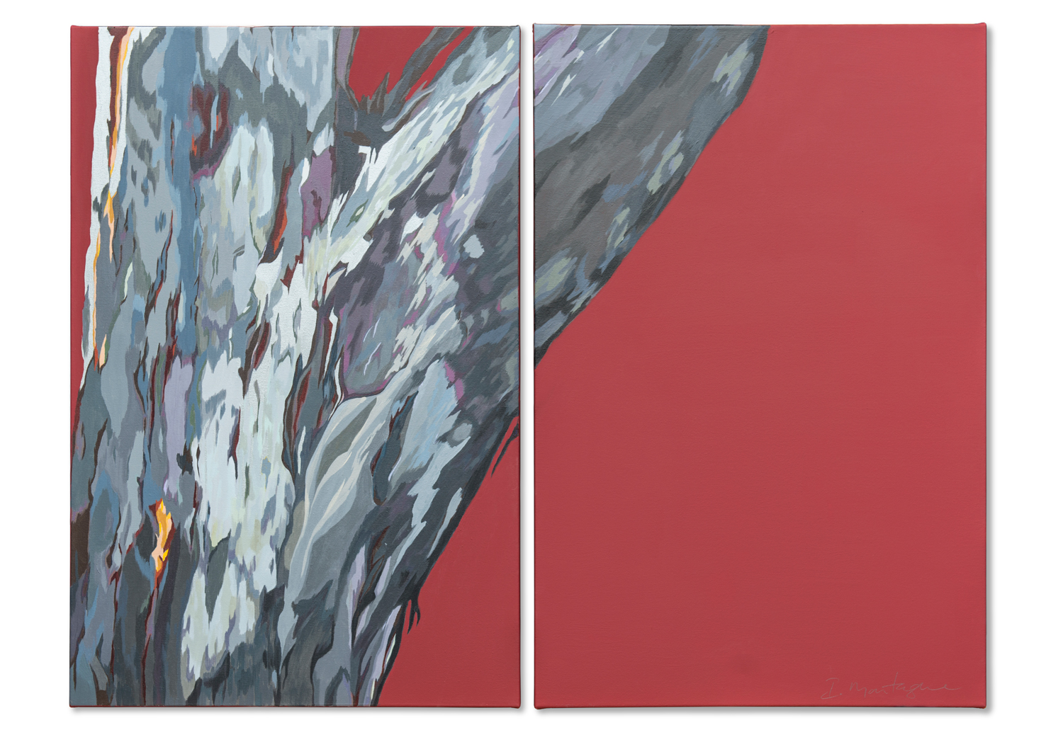 Some Like It Hot.   Acrylic polymer on stretched canvas, Diptych -each panel 90x60cm  ©  Ida Montague   ENQUIRE