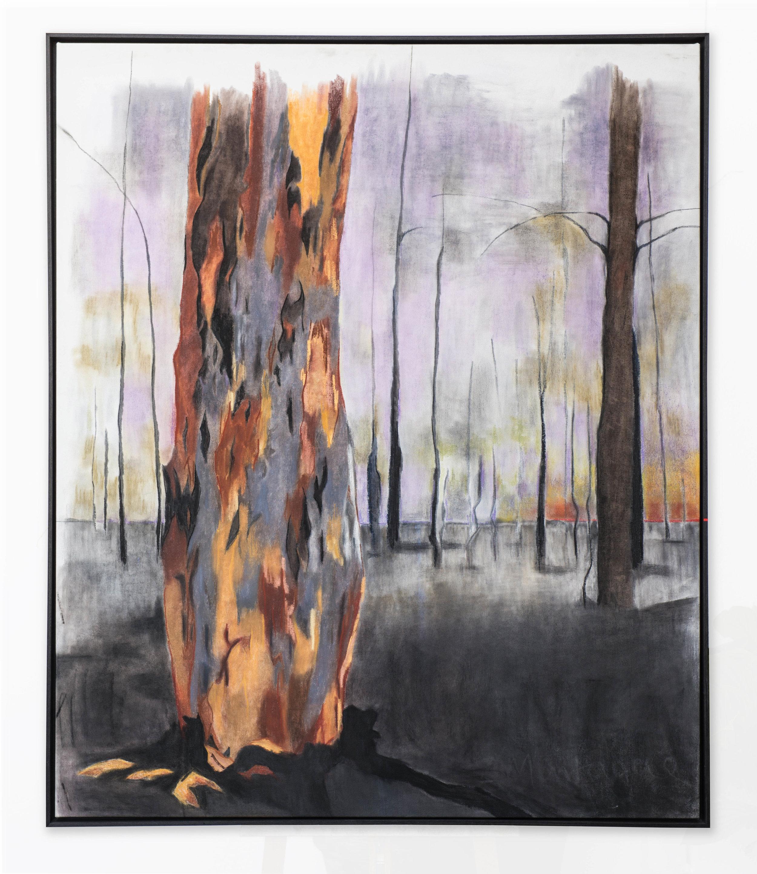 Tomorrow.  Dry medium on canvas, Framed140x115 cm, © Ida Montague. SOLD.Private collection, Brisbane, Australia.