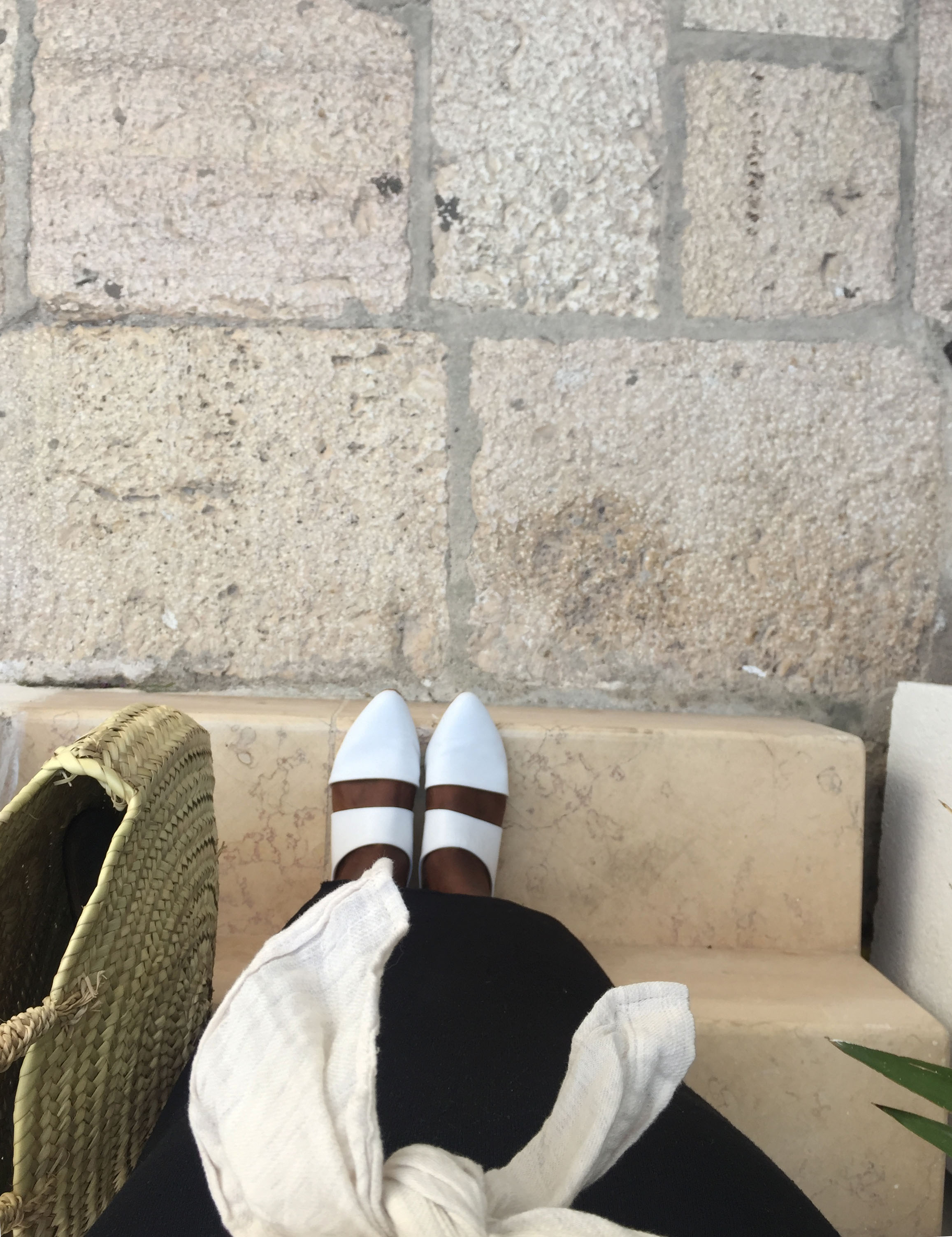 katherine of zou xou wearing the mule in white