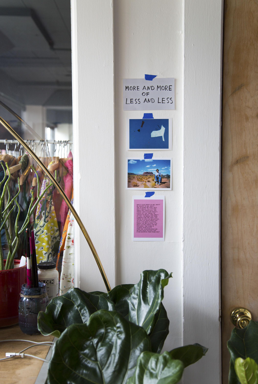A corner of Maja Dlugolecki's studio