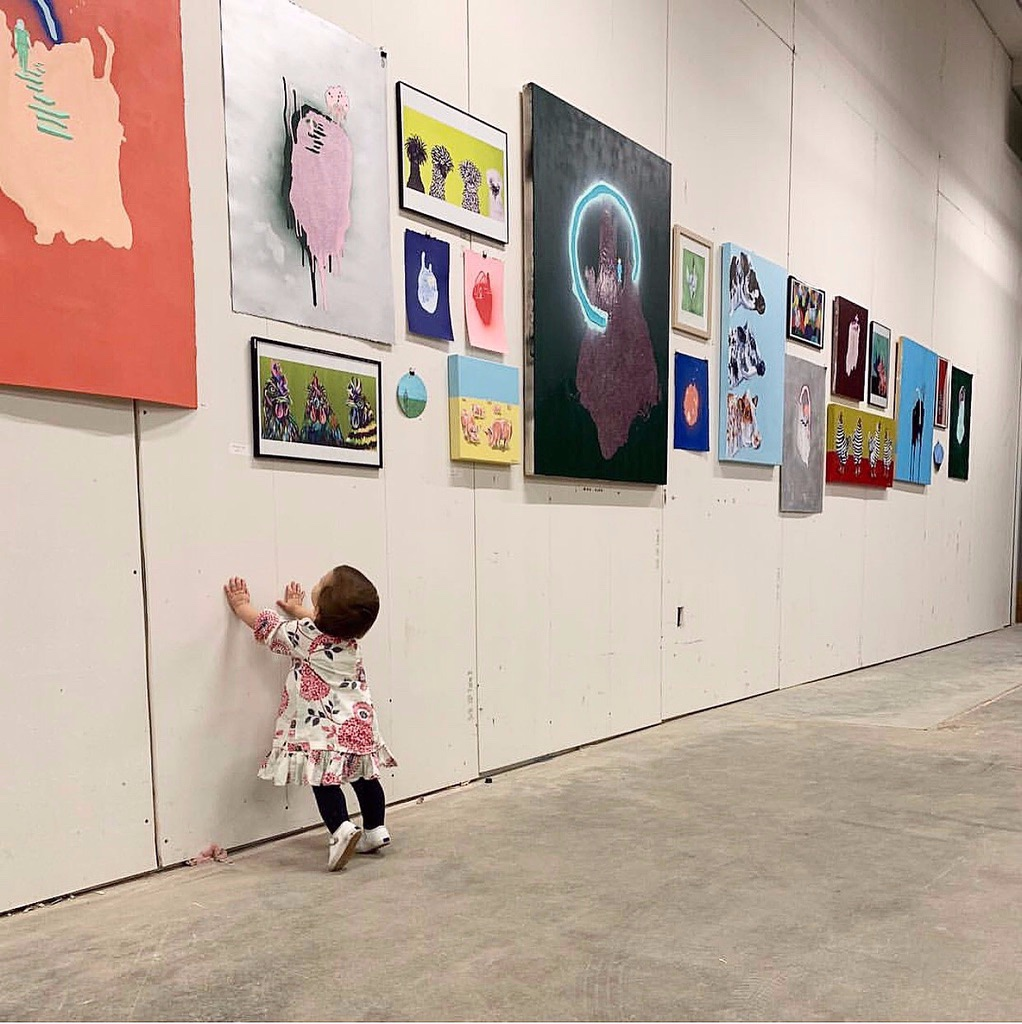 Devin Culpepper and Grace Porter,  The Art Project Pop Up at Crosstown Concourse, October 2018
