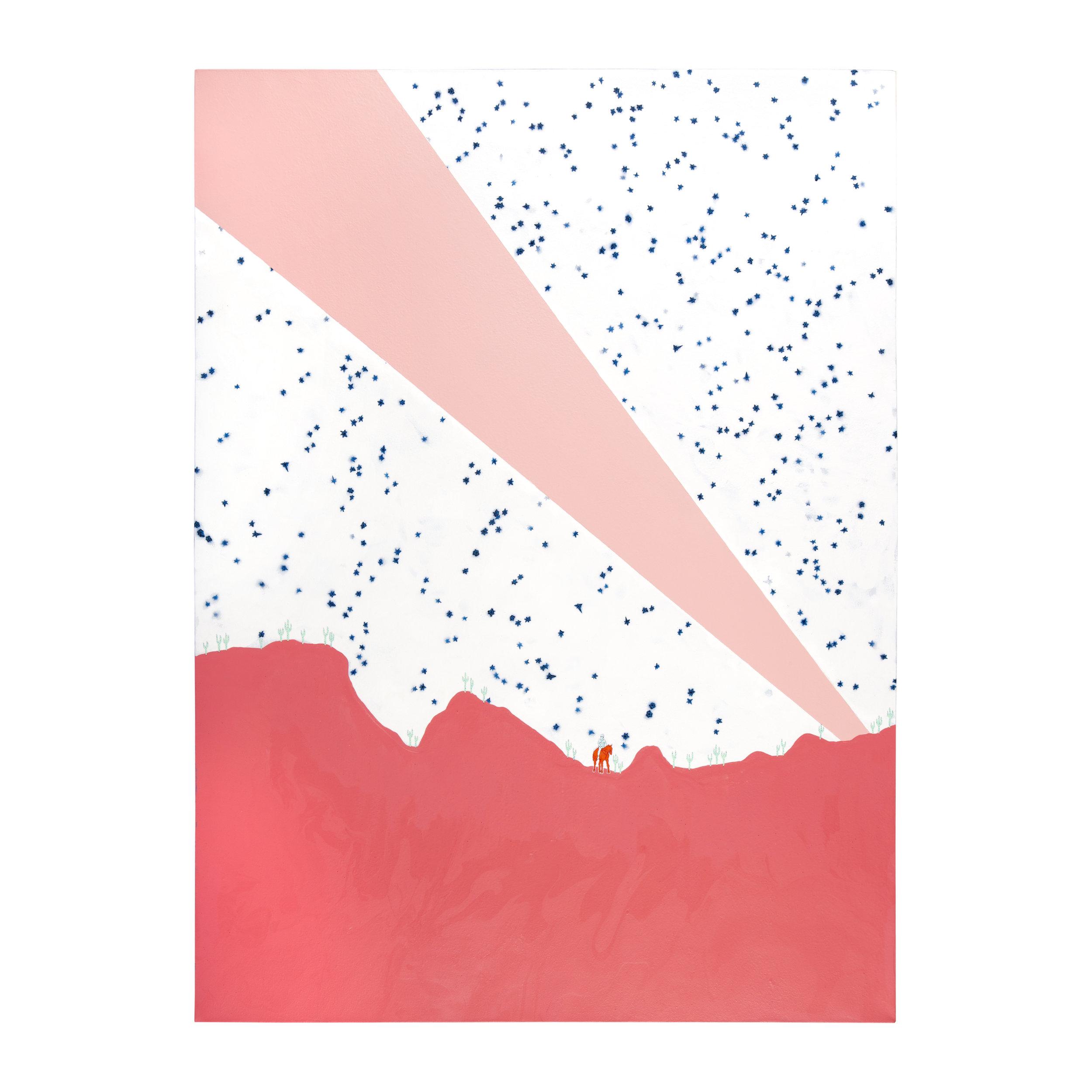 "9:33   Mixed media on canvas, 33"" x 45"", 2019"
