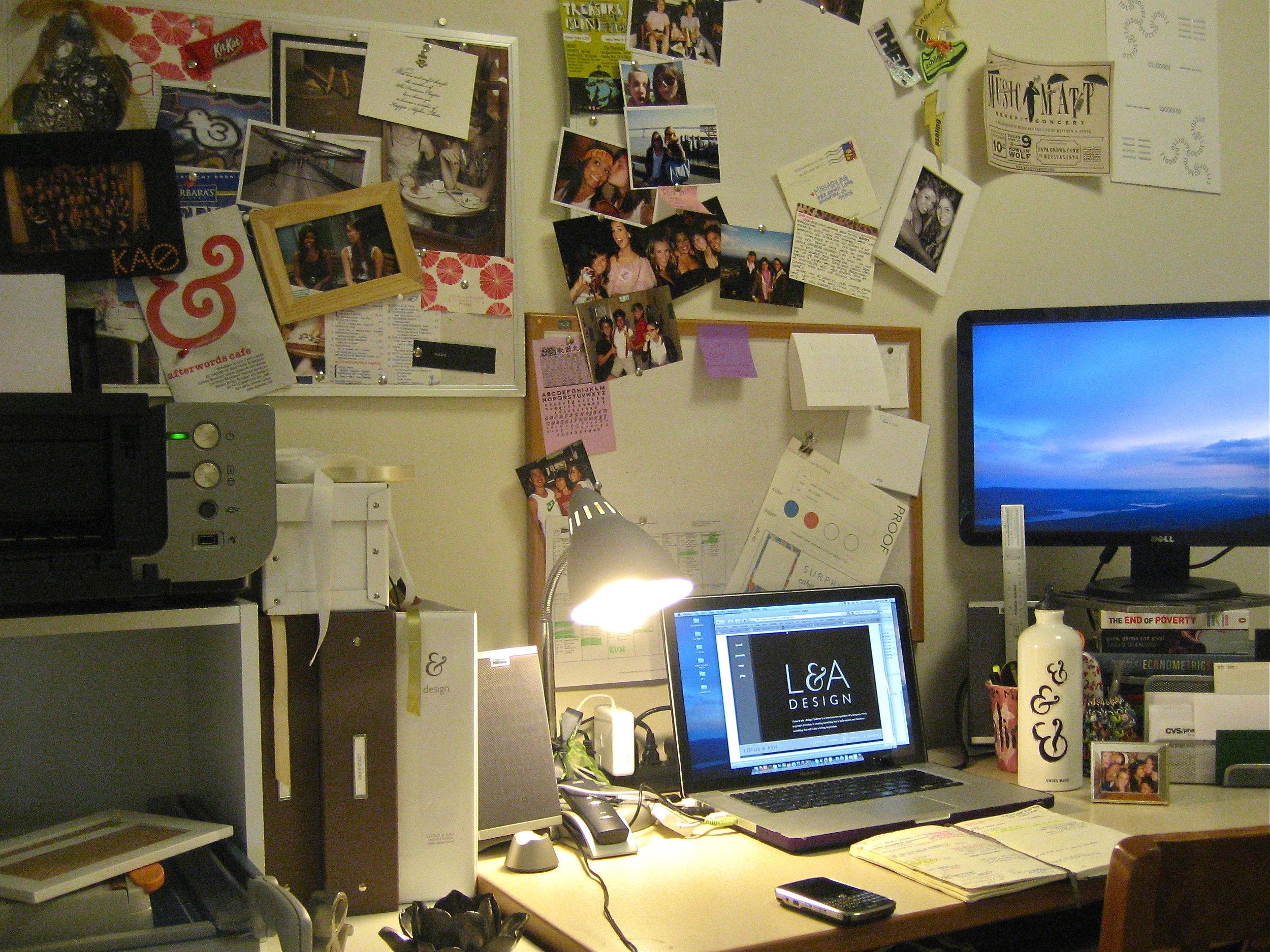 2008: Stanford dorm room turned design studio