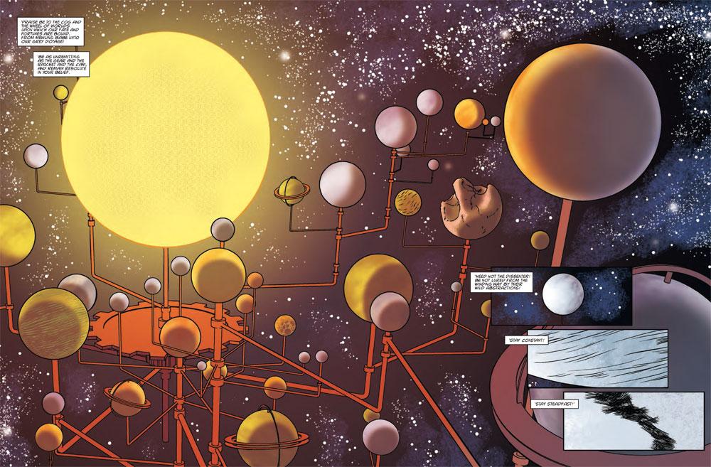 Image from Brass Sun  Ian Edginton and  I. N. J. Culbard