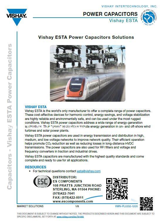 Click to Download Vishay ESTA Brochure