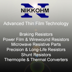 Nikkohm Resistors - Featuring Long Life, Very Low Failure Rate, Low TCR, High Stability, Tight Tolerances used in multi-applications, such as Automotive, Power Generation, High Speed Train Control, and more.