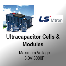 Ultracapacitor Cells & Modules - Ultracapacitors, or supercapacitors as they are also known, are an energy storage technology that offers high power density, almost instant recharging and very long lifetimes.