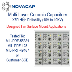 Multi-Layer Ceramic Capacitors - Applications for High Reliability products include medical implanted devices, aerospace, airborne and various military applications, and consumer uses requiring safety margins not attainable with conventional product.