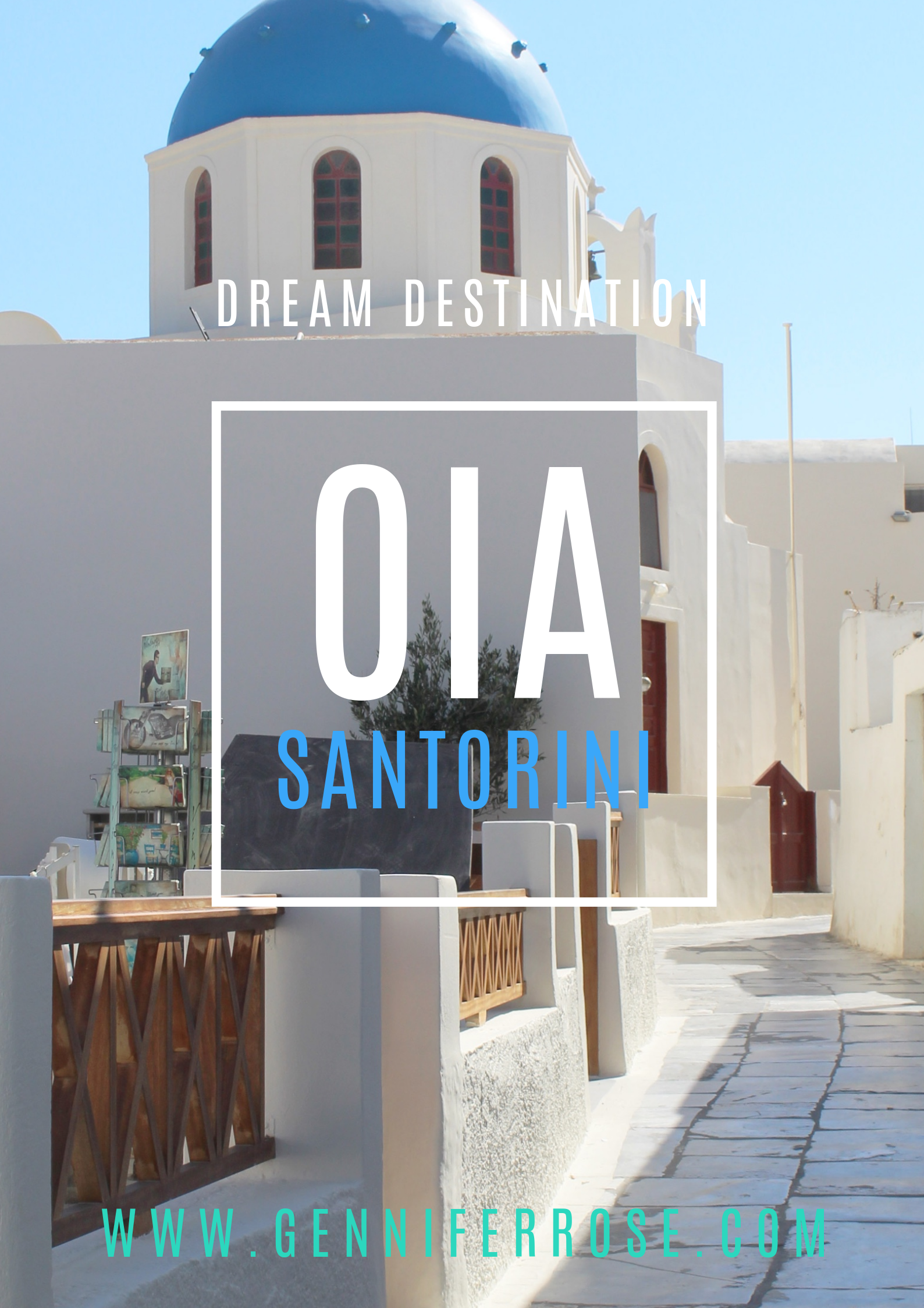 Gennifer Rose - Oia Santorini Pin