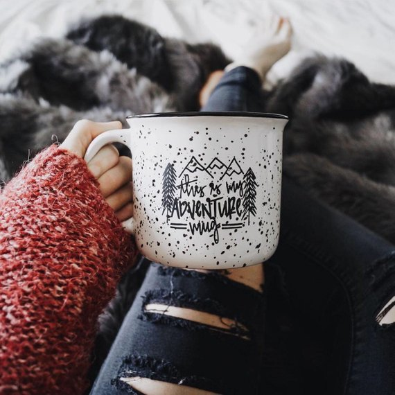Campfire Mug This Is My Adventure Mug By Lovewellhandlettered